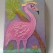 Pink Flamingo Painting2