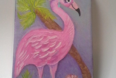 Pink Flamingo Painting3