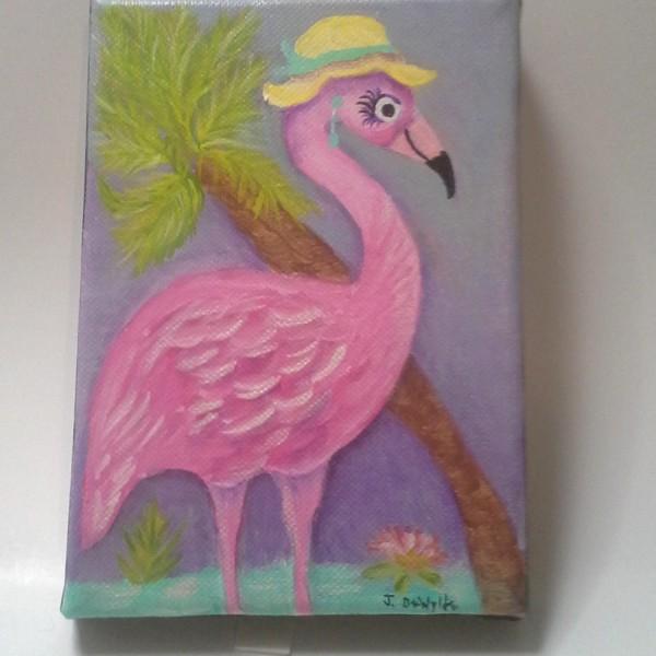 Pink Flamingo Painting3